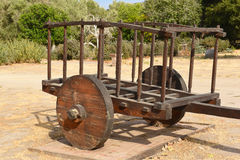 Ox Cart at La Purisima Mission Royalty Free Stock Photo