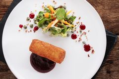 Ox cheek croquette appetizer Royalty Free Stock Photo