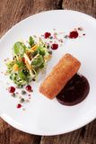 Ox cheek croquette appetizer Royalty Free Stock Images