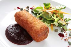 Ox cheek croquette appetizer Stock Photography