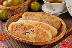 Ox-tongue-shaped pastry Stock Photography