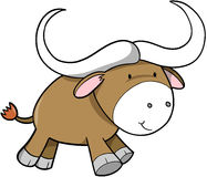 Ox Vector Illustration. Bull Cow Ox Vector Illustration Royalty Free Stock Photo