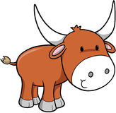 Ox Vector Illustration. Bull cattle Ox Vector Illustration Stock Photo