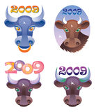 Ox Year Royalty Free Stock Photography