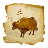 Ox Zodiac icon Royalty Free Stock Image
