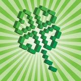 Oxalide petite oseille de pixel du jour de Patrick de saint Photo libre de droits