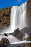 Oxarafoss瀑布在冰岛 库存照片