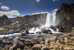 Oxarafoss waterfall Stock Photos
