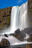 The Oxarafoss waterfall in Iceland Stock Photo