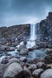 Oxararfoss ã-Xarà ¡ rfoss in het nationaal park van Thingvellir Royalty-vrije Stock Foto's