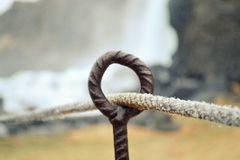 Oxararfoss siklawa w Pingvellir lub Thingvellir parku narodowym fotografia royalty free