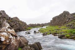 Oxararfoss in Thingvellir National Park,Iceland Stock Photography