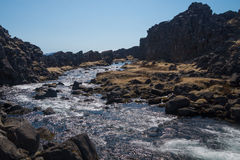 Oxararfoss, Thingvellir National Park, Iceland Stock Images