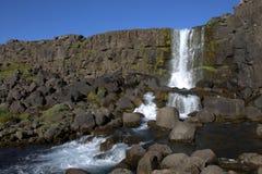 Oxararfoss in Thingvellir-park Royalty-vrije Stock Fotografie