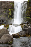 Oxararfoss Waterfall Royalty Free Stock Images