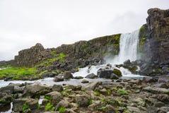 Oxararfoss waterfall in Thingvellir national park Stock Photography