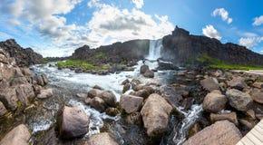 Oxararfoss waterfall in Thingvellir national park.  Stock Photography