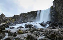 Oxararfoss Waterfall in Thingvellir National Park, Iceland. Oxararfoss Waterfall in Thingvellir National Park, Southwestern Iceland Stock Images