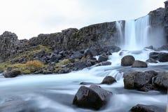 Oxararfoss Waterfall in Thingvellir National Park, Iceland. Oxararfoss Waterfall in Thingvellir National Park, Southwestern Iceland Royalty Free Stock Photography