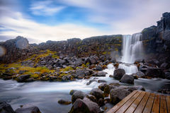 Oxarfoss waterfall Royalty Free Stock Photography