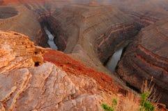 oxbow каньона стоковые изображения