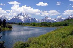 Oxbow bend Royalty Free Stock Images