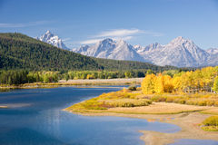 Oxbow Bend in Autumn Splendor Stock Photography