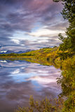 Oxbow Bend at Dawn Royalty Free Stock Photos