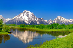 Oxbow Bend at at Grand Teton Stock Image