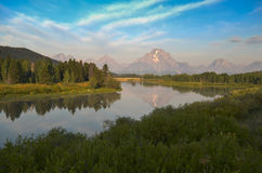 Oxbow Bend at Grand Teton Royalty Free Stock Images