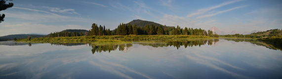 Oxbow Bend at Grand Teton Stock Image