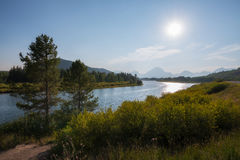 Oxbow Bend in Grand Teton National Park stock images
