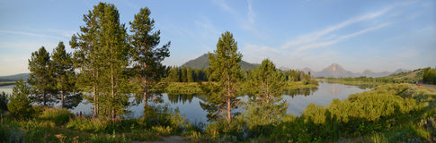 Oxbow Bend at Grand Teton Royalty Free Stock Photo