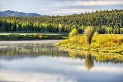Oxbow Bend, Grand Teton National Park. Wyoming, USA Royalty Free Stock Photos