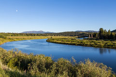 Oxbow bend at Grand Teton National Park, Wyoming, USA Royalty Free Stock Images