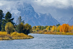 Oxbow Bend Grand Tetons Stock Photography