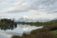 Oxbow Bend in Grand Tetons National Park Stock Photo