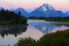 Oxbow Bend at the Grand Tetons Stock Image