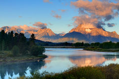 Oxbow Bend at the Grand Tetons Royalty Free Stock Photo