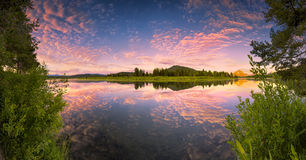 Oxbow Bend Panorama Royalty Free Stock Images