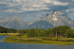 Oxbow Bend in the summer Royalty Free Stock Image