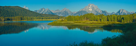Oxbow Bend in the summer. Grand Tetons NP - Wyoming Royalty Free Stock Photography