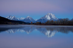 Oxbow Bend Sunrise 1. Sunrise on the Oxbow Bend of the Snake River in October, Grand Teton National Park, Wyoming Stock Image