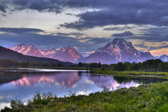 Oxbow Bend Sunrise Royalty Free Stock Images