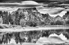 Oxbow Bend Sunrise at Dawn Stock Photography