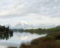 Oxbow Bend Turnout. In Grand Tetons National Park, Wyoming, USA Stock Photo