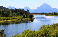 The Oxbow Bend Turnout in Grand Teton Royalty Free Stock Image