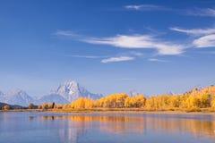 Oxbow-Biegung im Herbst Lizenzfreie Stockfotografie