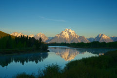 Oxbow in Grand Tetons Park Stock Images