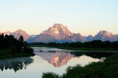 Oxbow krökning, Wyoming (2) Fotografering för Bildbyråer